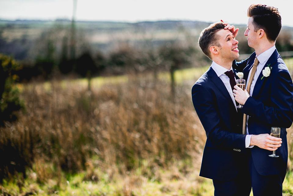 Gay Wedding Cornwall Photography Trevenna073