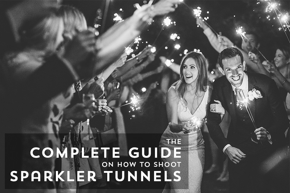 How to shoot wedding sparkler tunnels