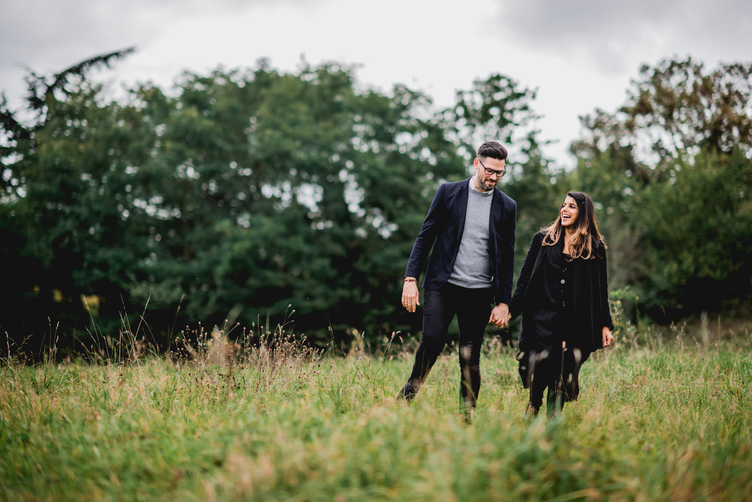 Autumn Engagement Photos Richmond Hill London