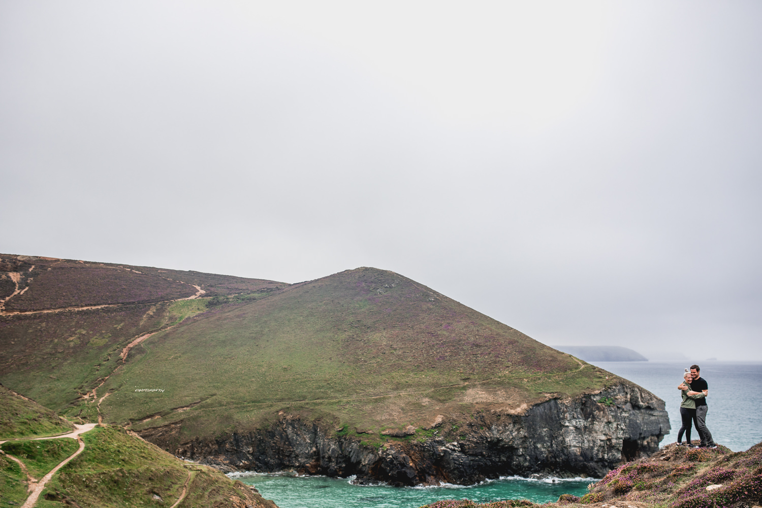 Chapel Porth Cornwall Wedding Engagement Photography