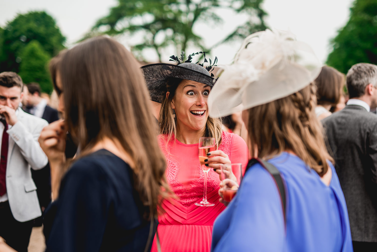 Candid wedding photography at family photos at st giles house