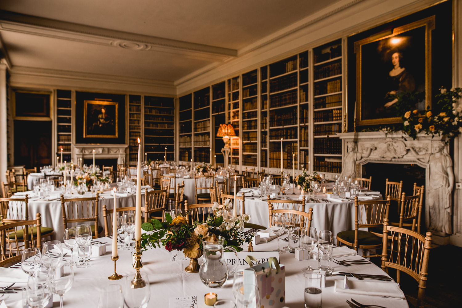 St Giles House wedding breakfast room