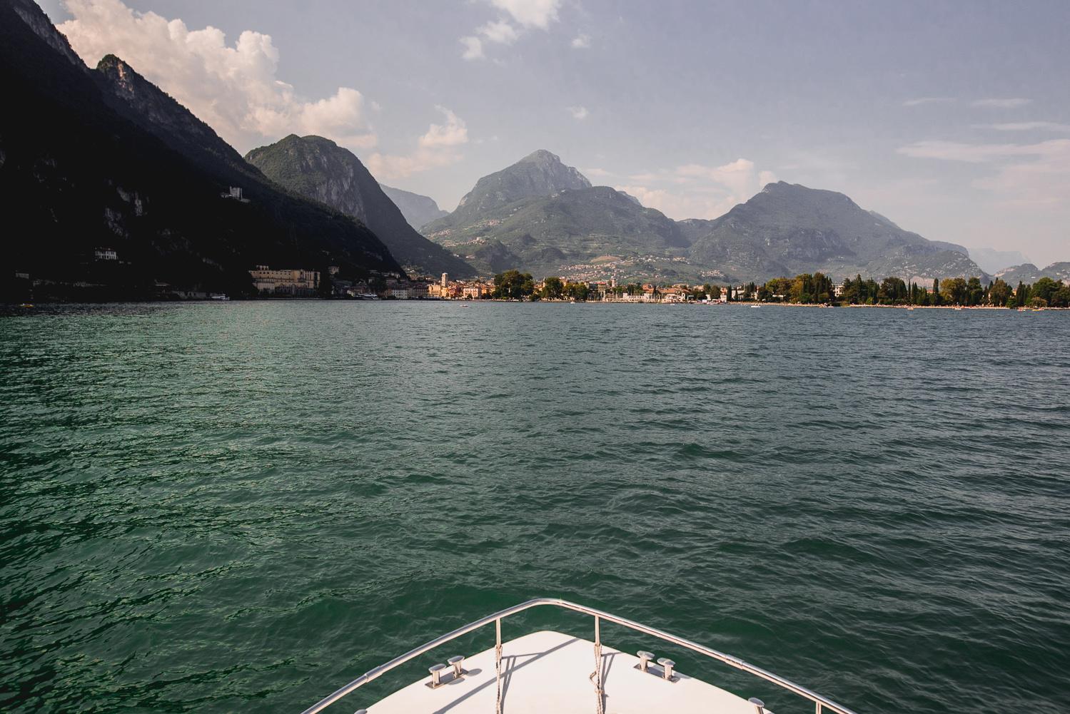 boat italy riva del garda wedding