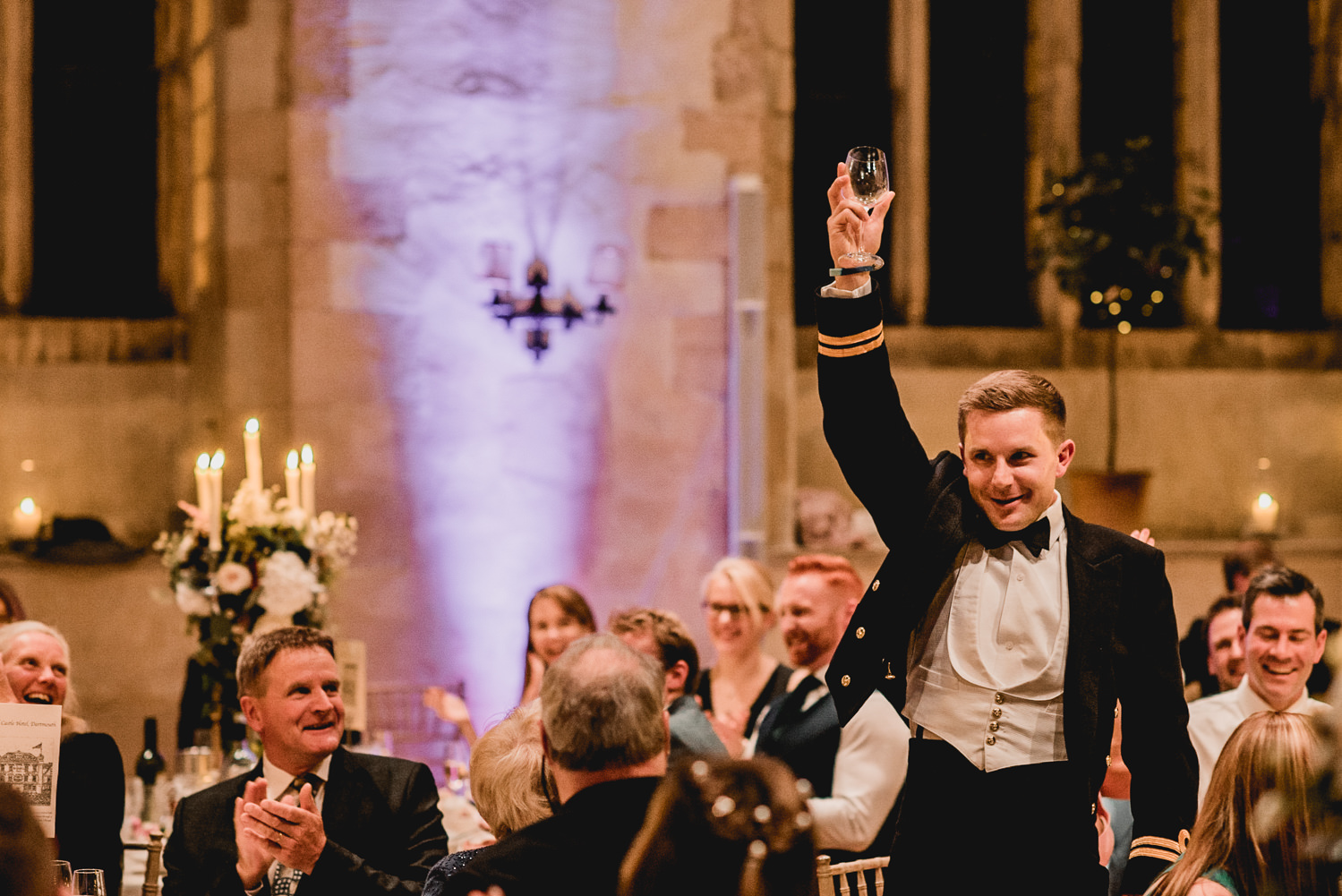 speeches at best Dartington Hall Wedding Photographer