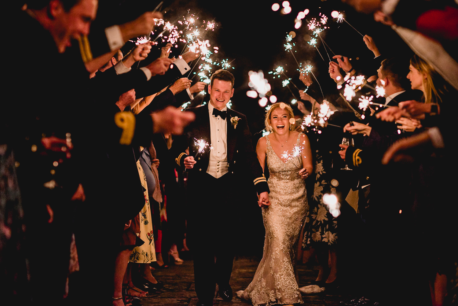 Dartington Hall Wedding Sparklers