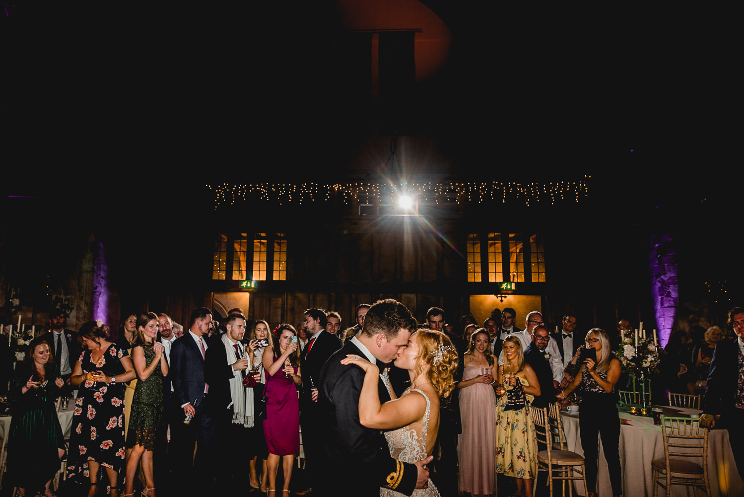 Dancing at Dartington Hall Wedding