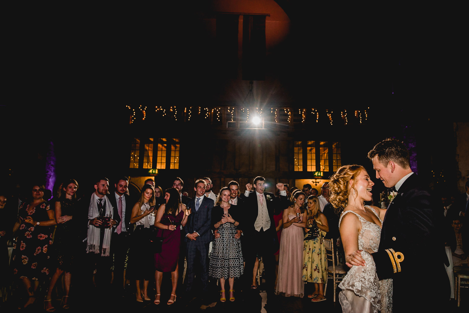 Dancing first Dartington Hall Wedding