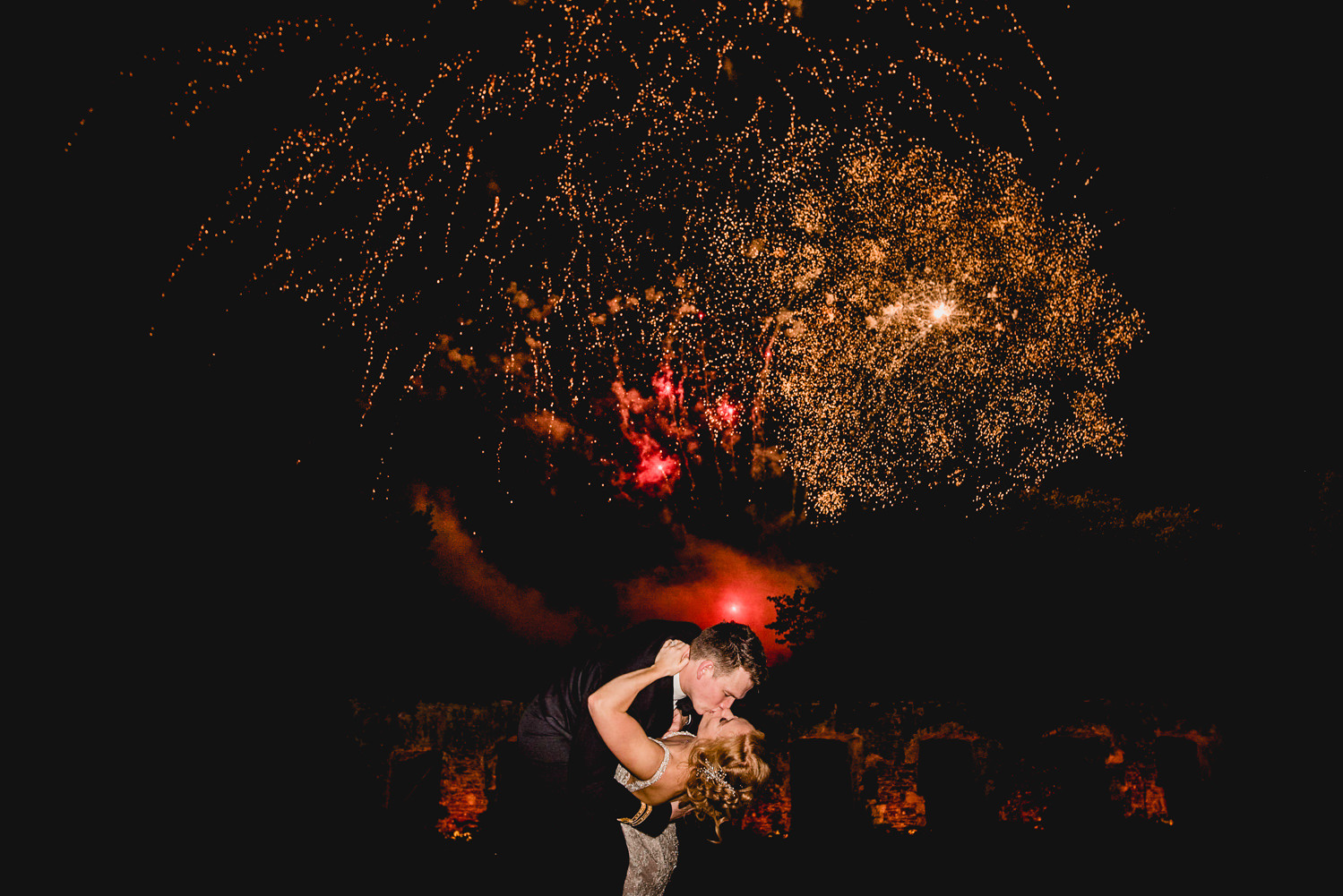 Fireworks Dartington Hall Wedding
