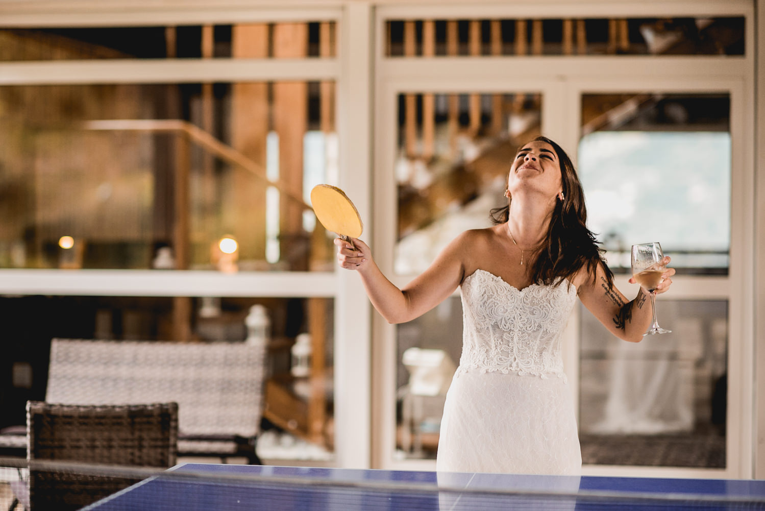 ping pong on our wedding day