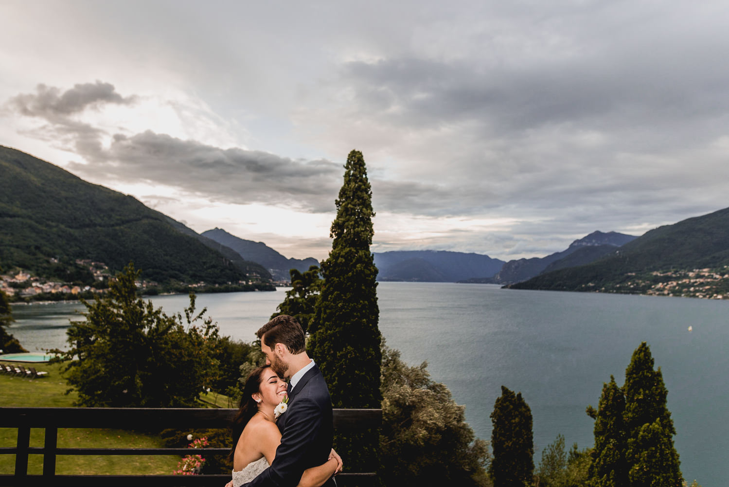 wedding portrait lake como