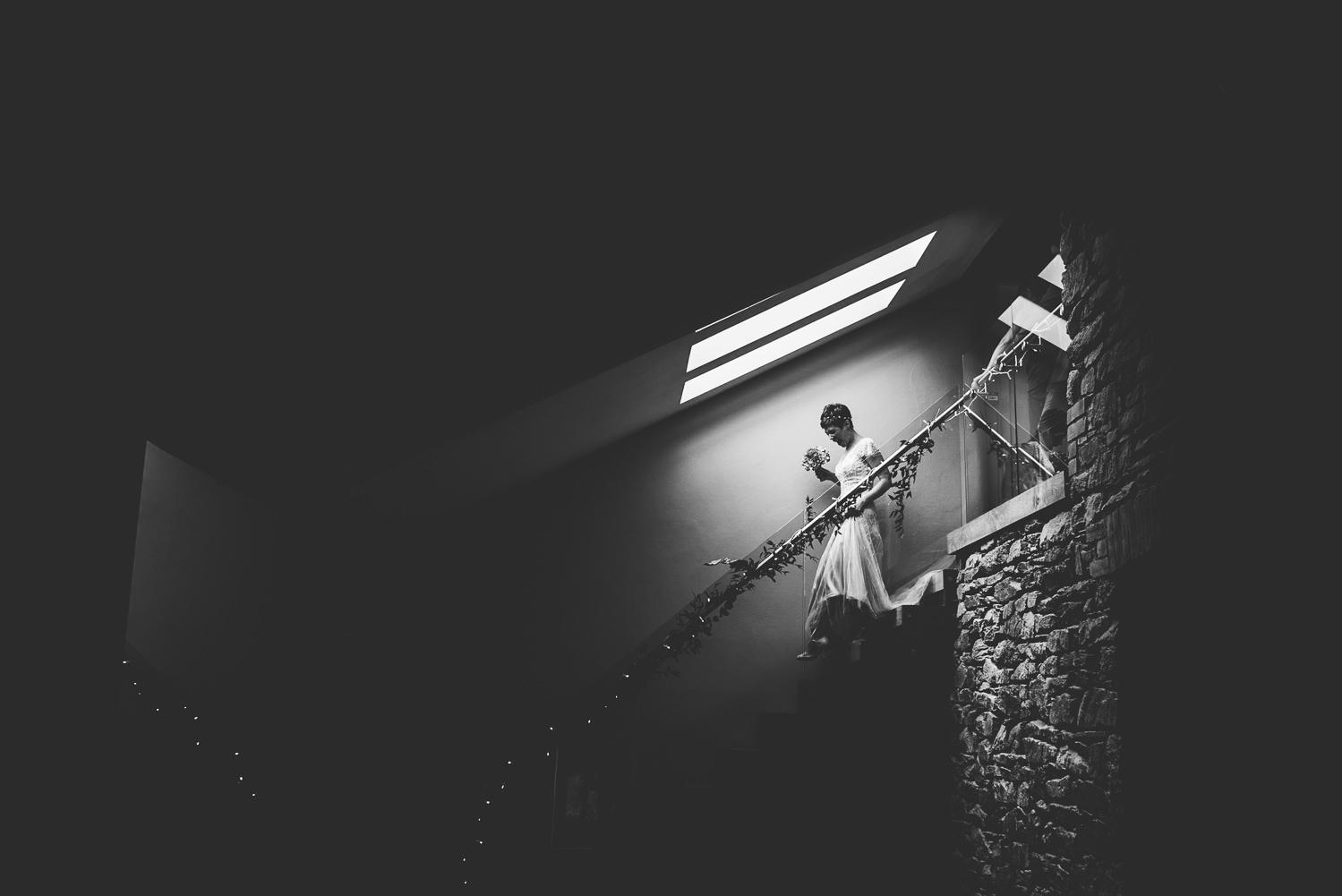 walking down the stairs trevenna barns