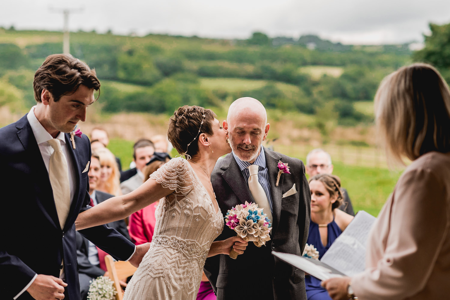father of the bride moment cornwall