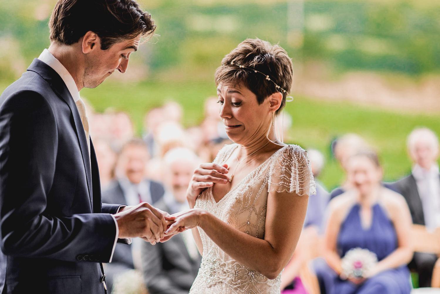 bride and groom love cornwall