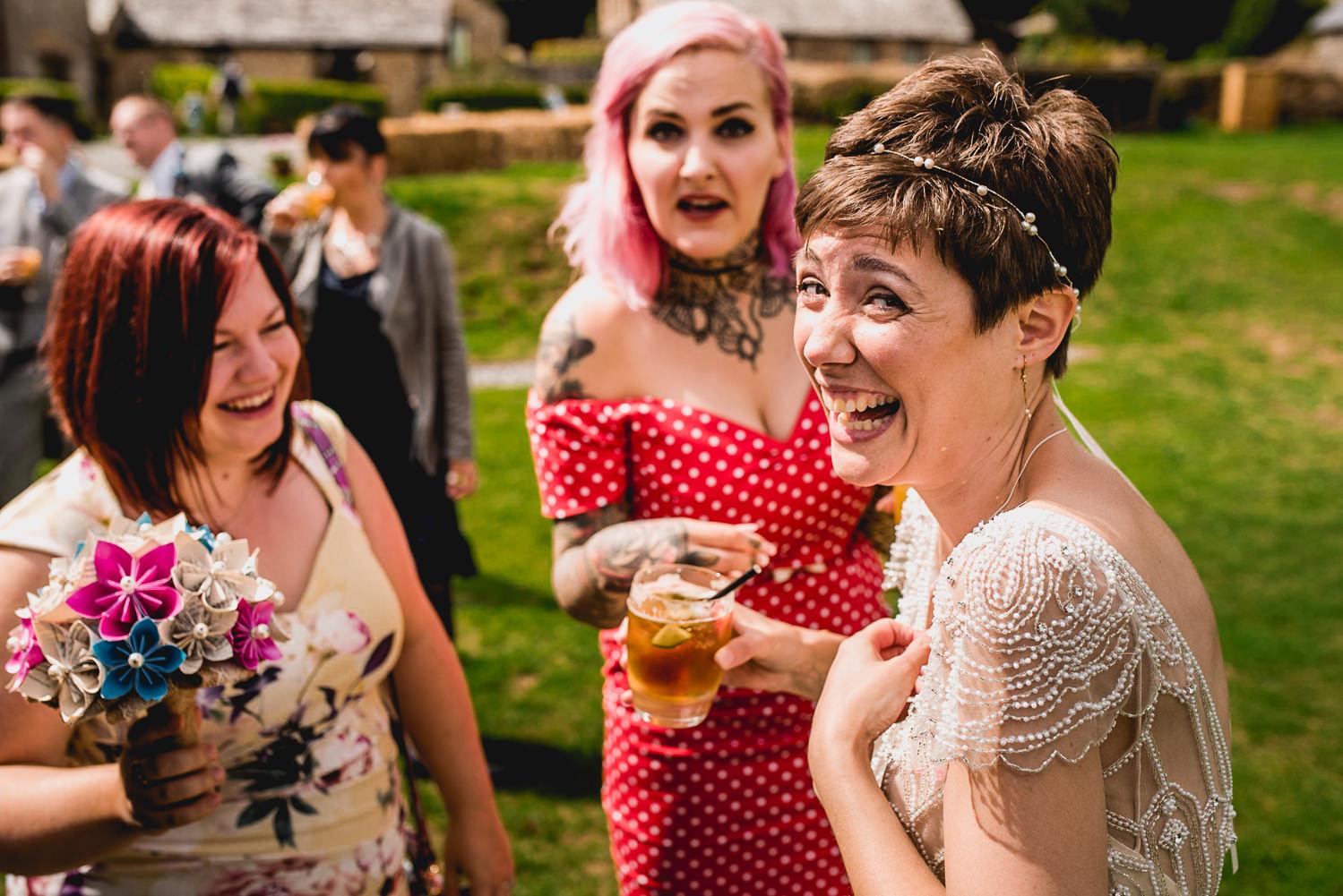 bride and friends trevenna