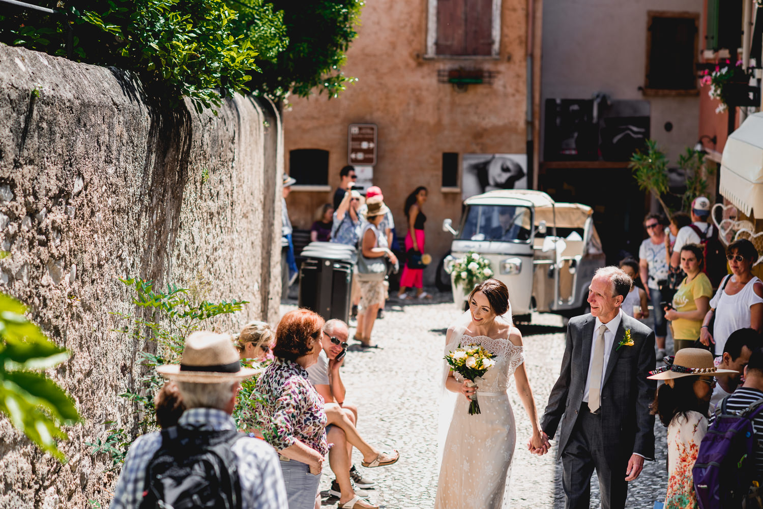 Malcesine castle wedding day italy