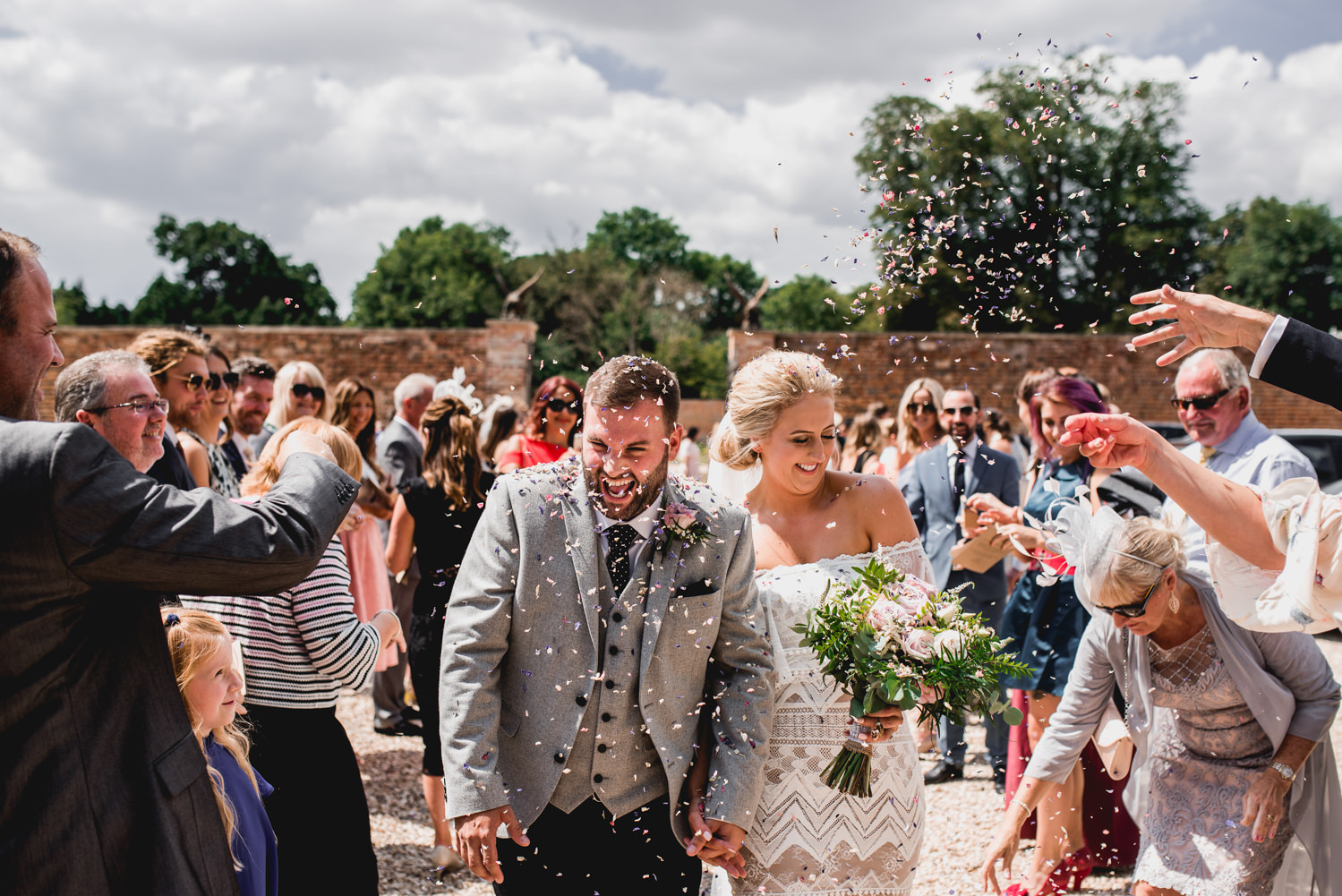 confetti at Orchardleigh Estate