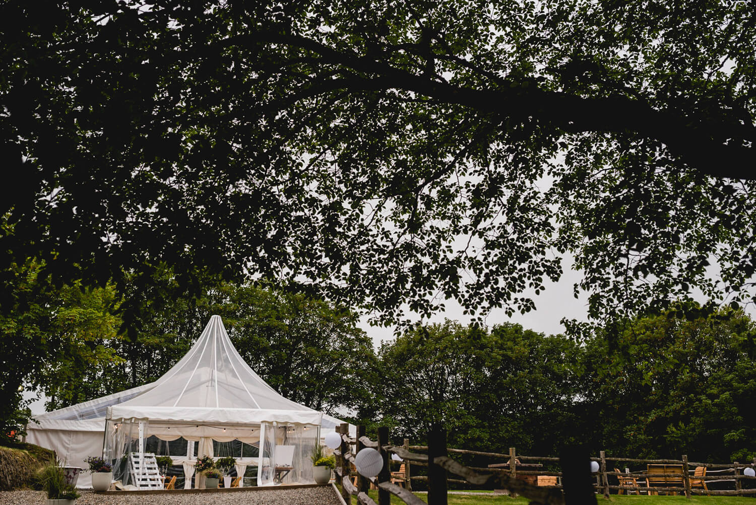 Kilminorth Cottages Wedding venue marquee