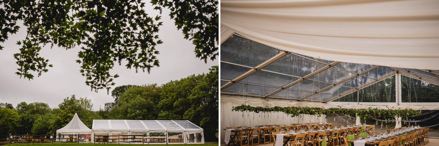 Kilminorth Cottages marquee wedding