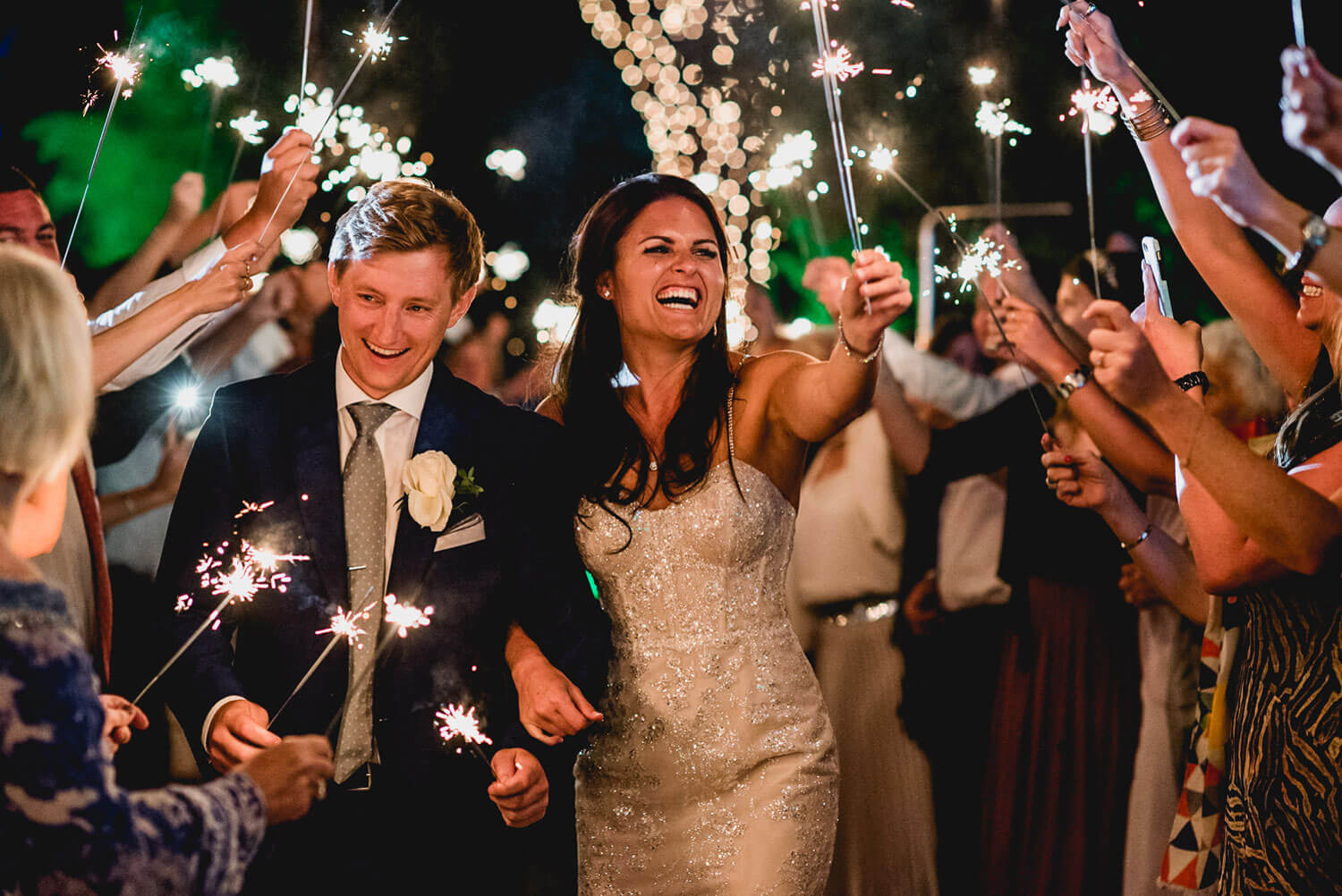 Destination Wedding in Portugal Sparklers