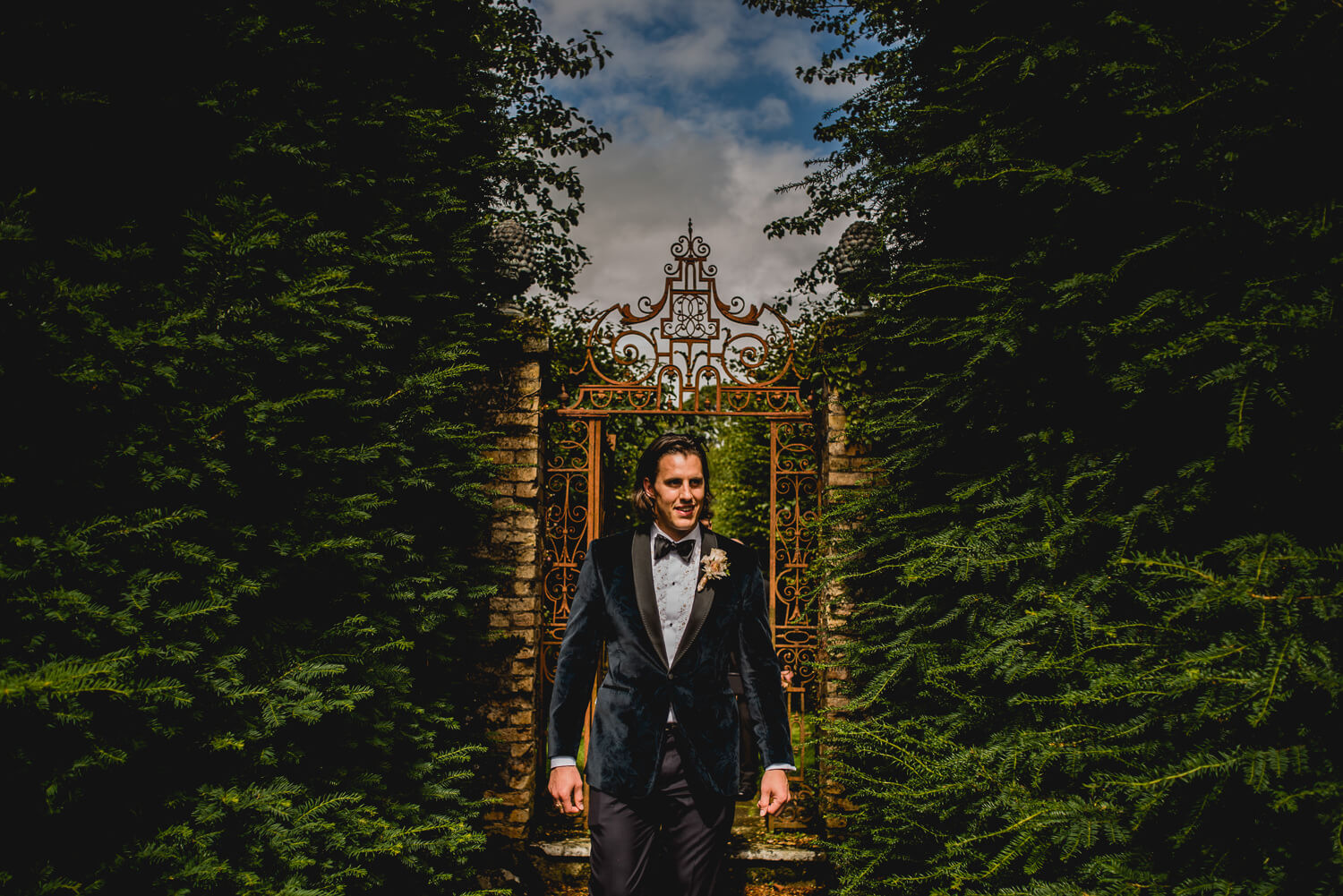 Groom Gloster House Wedding