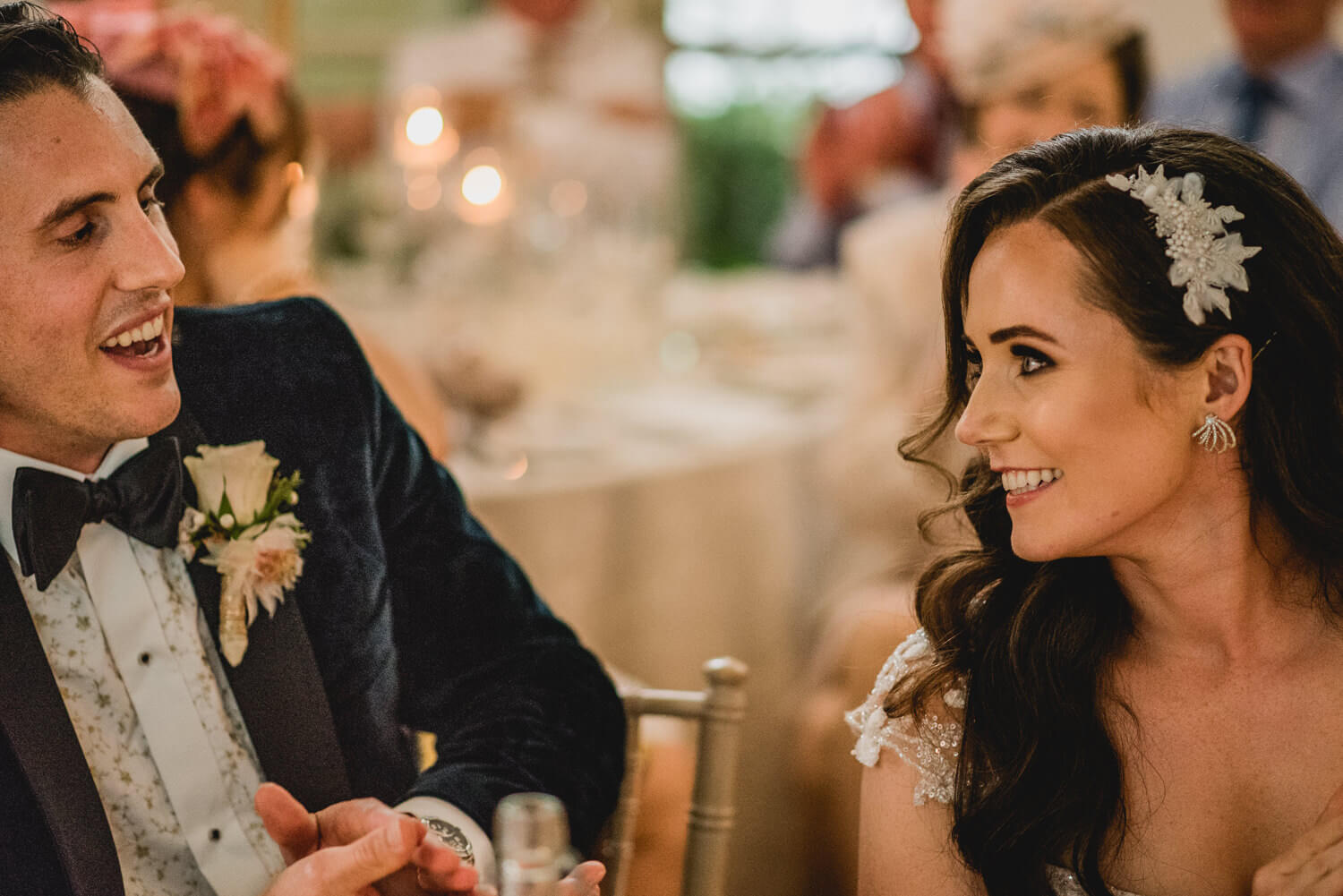Bride and Groom at Gloster House in Ireland