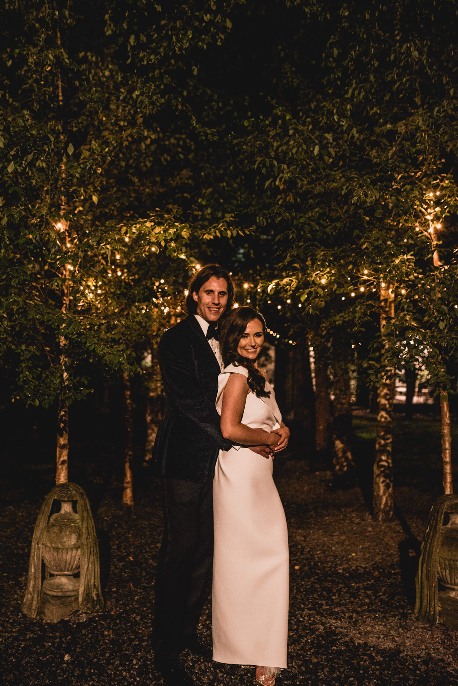 Bride and Groom at Night